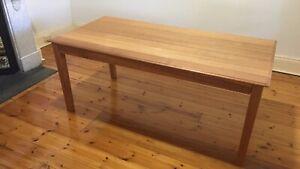 Solid oak dining table / desk