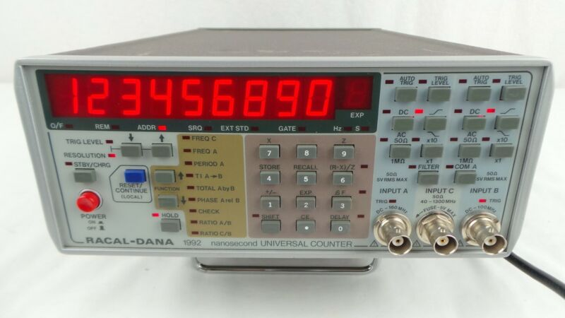 RACAL-DANA 1992 NANOSECOND UNIVERSAL COUNTER WORKS