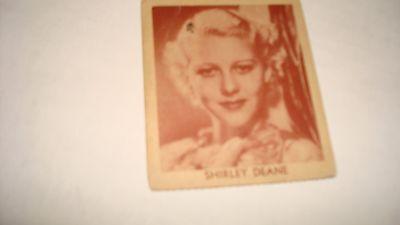 Movie Star Strip Card R-94 Shirley Deane Rare 1930's