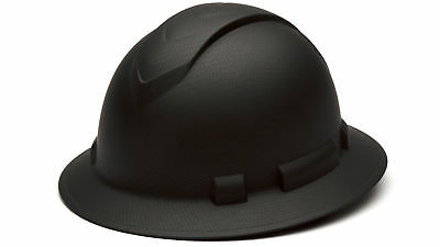 New Pyramex Ridgeline Hard Hat Graphite Pattern Black Full Brim Ratchet Hp54117