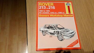 Rover 213 and 216 1984-89 Owner's Workshop Manual (Service & repair manuals)