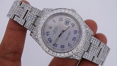 Rolex Date Just II 2 41mm Watch Iced Out 19 Carat Diamonds Best Price On Ebay