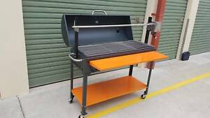 BBQ  smoker rotisserie combo for the price of a rotisserie