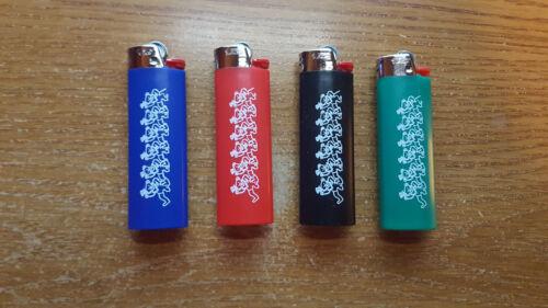 Grateful Dead Dancing Bears Bic Lighter set of 4 colors