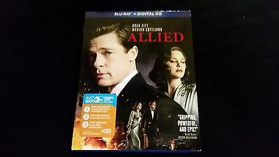 Allied Blu Ray Digital W Slipcover Bradd Pitt 2016