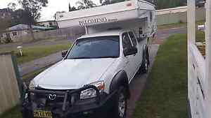 MAZDA BT50 2011 UTE WITH  PALOMINO SLIDE ON CAMPER North Shore Port Macquarie City Preview