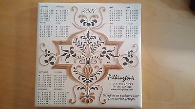 Pilkington's 2007 Calendar Year Ceramic Tile good condition
