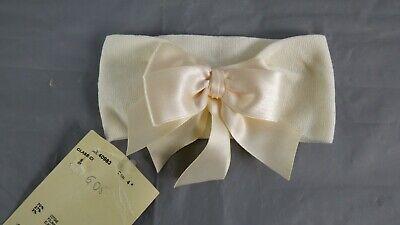 BNWT Story Loris Ivory Baby Girl Bow Headband Elastic Bowknot Newborn