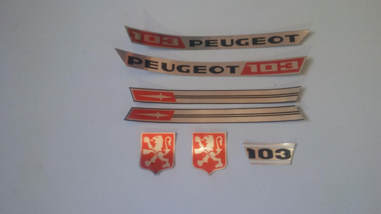 Autocollant Stickers Peugeot 103 NL.