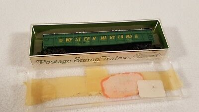 Vtg Aurora Postage Stamp Trains N Scale 70 t Gondola Western Maryland 4842/340 for sale  Shipping to Canada