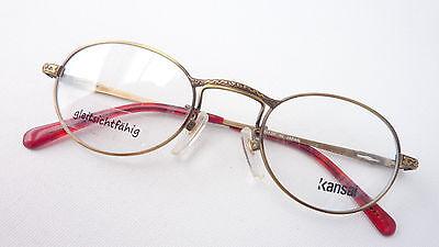 Damen-accessoires Brille Fassung Damen Klein Oval Ausgefallenes Design Metall Gestell Grösse M Kleidung & Accessoires