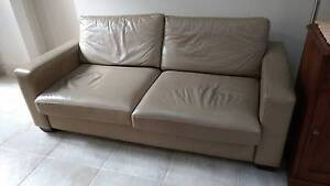 Leather sleeper/ couch - Double bed size Rose Bay Eastern Suburbs Preview