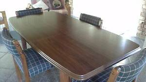 Dining room table with extension and 4 chairs Pine Mountain Ipswich City Preview