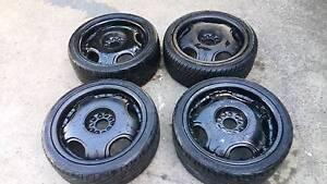 18x8 black multi 5 stud rims tyres 5x114.3 Auburn Auburn Area Preview