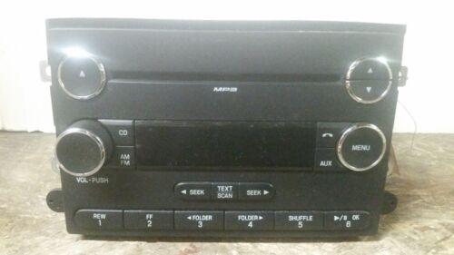 07 08 09 Ford Fusion Mercury Milan Single CD Radio Receiver 8E5T-18C869-BF