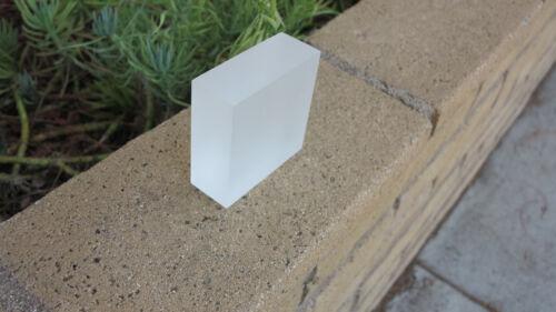 "1.5"" x4"" x 4"" Custom Frosted  Acrylic/Plexiglass BLOCK For LED, Decoration, Base"