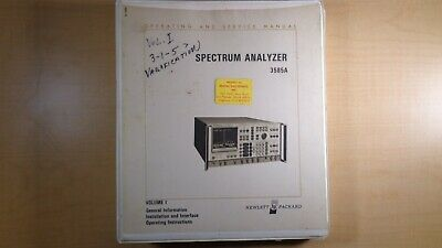 Hp Spectrum Analyzer 3585a Operating And Service Manual Volume I Oem 8e B5
