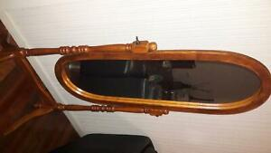 Standing mirror. Solid wood and in good condition.