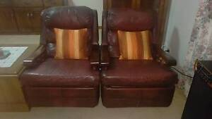 Leather Lounge with recliners Fullarton Unley Area Preview