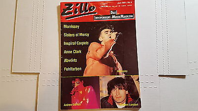 ZILLO MAGAZINE 1991 June Issue MORRISSEY Sisters of Mercy Inspiral Carpets