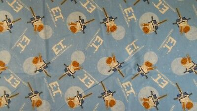 E T EXTRA TERRESTRIAL  UNIVERSAL STUDIOS  100/% COTTON SCENIC FABRIC  BY THE YARD