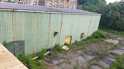 Steel Building Aprox 51 Feet By 109 Feety 25 Ft Tall Green Building 2 Trolley