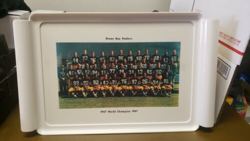 1967 GREEN BAY PACKERS SERVING TRAY SUPER BOWL WORLD CHAMPION WAVERLY VINTAGE