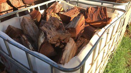 1000 litre pod full of split firewood.