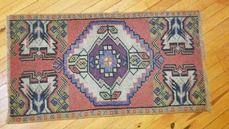 Antique Distressed Turkish Tribal Rug 1