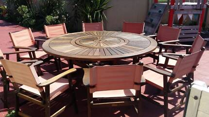 STUNNING 10 CHAIRS & TABLE 'Nullarbor' KWILA OUTDOOR SETTING Coombabah Gold Coast North Preview