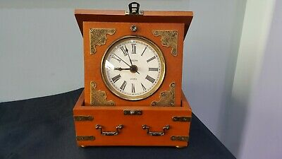 Bulova Antique Gold Tone Bezel Wood Veneer Case Watch B7450