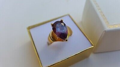 Beautiful Ladies Fine Estate Jewelry HSN Sterling Silver Gemstone Ring Size 9.75
