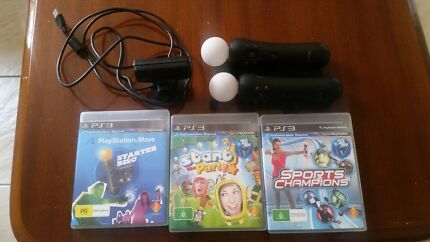 Sony Playstation Eye camera + 2 Move controllers + 3 Discs Brookvale Manly Area Preview
