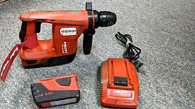Hilti Cordless Te 4-a18 With Two 5.2ah Batterycharger Rotary Hammer Drill Sds
