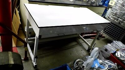 60 X 30 X 35 Tall Laminate Top Laboratory Work Benchtable On Wheels