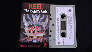 KEEL-THE-RIGHT-TO-ROCK-CASSETTE-TAPE-Produced-By-GENE-SIMMONS