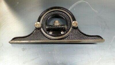 Vintage L.s Starrett Co Machinist Square Protractor Head With Level