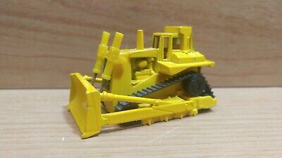 Hot Wheels ~ CAT Bulldozer ~ Yellow, 1980 Workhorses ~ Malaysia base