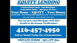 EQUITY LENDERS! 2nd Mortgages and Construction Loans!