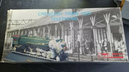 Vtg Telemania Crescent 1925 Train Locomotive Phone With Steam Train Sounds