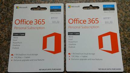 Office 365 Personal Subscription, new