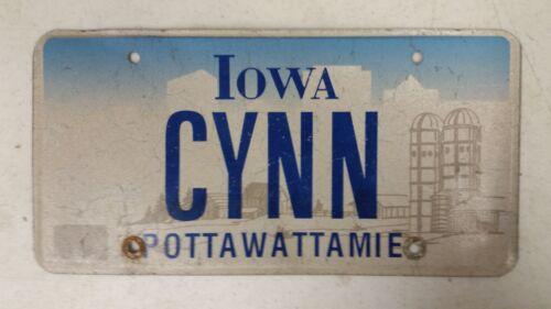 EXPIRED IOWA Pottawattamie County License Plate CYNN