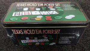 Texas Hold'em Poker set - Brand new still in wrapping Bondi Beach Eastern Suburbs Preview