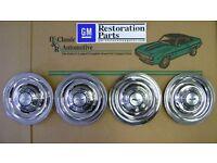 Set of 4 GM Restoration Parts 1984-85 C4 Corvette Wheel Center Caps w Emblems