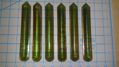 6 Antique Tiffany Studios Favrile Glass Crystal Chandelier Iridescent Prysms