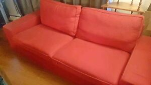 Red  beautiful couch