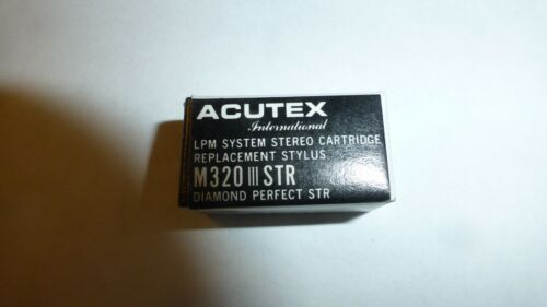 Acutex M320 III STR stylus for LPM 300 series cartridges!!  NOS Acutex!!