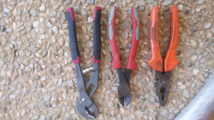3 pliers set sidecutters multigrips hand tools Narangba Caboolture Area Preview