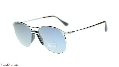 fb4a77b19a Persol Mens Sunglasses PO2649S 51856 Silver Light Blue Lens 55mm