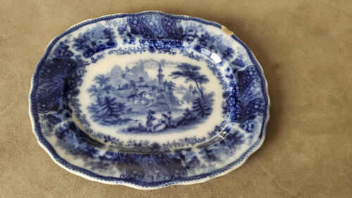 Rare Antique Burgess and Leigh Non Pareil China Serving Plate. From England.